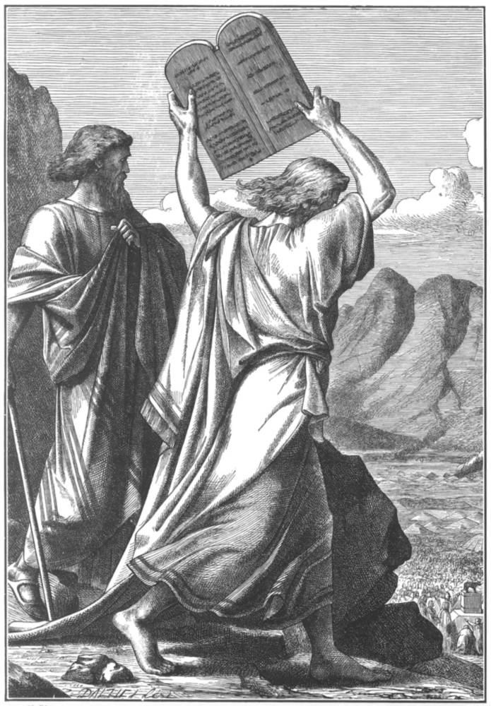 Moisés rompe las tablas de la ley