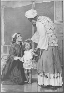 Ana entregando a Samuel