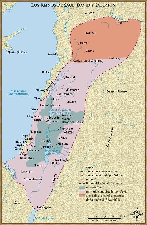 Resultado de imagen de Reinos de Saúl, David y Salomón.