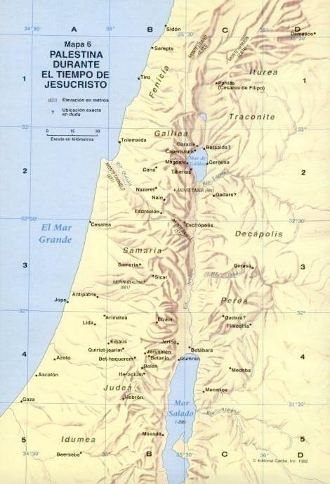 Palestina en tiempos de Cristo