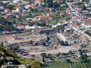 Corinto desde el Acrocorinto