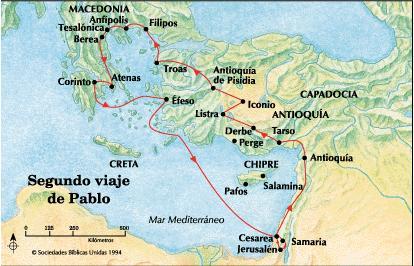 Segundo viaje misionero Pablo